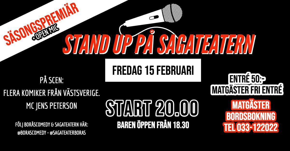 Stand up på Sagateatern